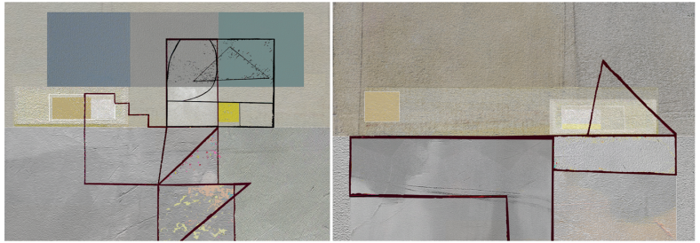 Yellow Geometry Diptych 02