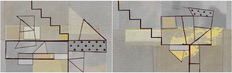 Yellow Geometry Diptych 03