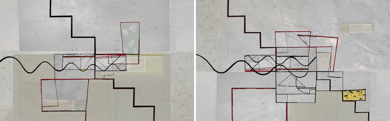 Too Geometrical to Go Steady - Diptych 02
